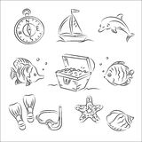 Vector Sketch Set Stock Photos