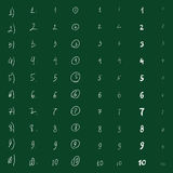 Vector Sketch Set of Numbered Lists Stock Photos