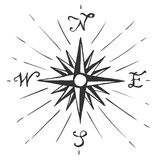 Vector sketch sign Wind rose stock photos
