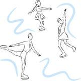 Vector sketch of skaters. Stock Photos