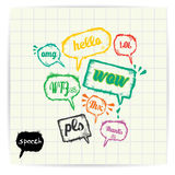 Vector sketch speech bubble. Vector sketch hand drawn speech bubble . cover design Royalty Free Stock Images