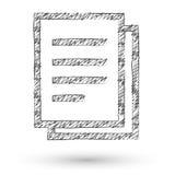 Vector sketch style icon Stock Photos