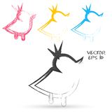 Vector sketch style of twitter bird icons. Design element Stock Images
