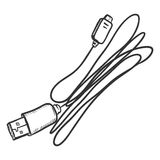 Vector Sketch USB wire for Mobile Phones Royalty Free Stock Photography