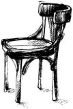 Vector sketch of Viennese bent wood chair Royalty Free Stock Images