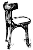 Vector sketch of Viennese bent wood chair Royalty Free Stock Photos