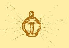 Vector sketch. Vintage lantern Stock Images