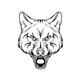 Vector sketch of a wolf. Royalty Free Stock Images