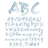 Vector Sketched Alphabet. Abstract Vector Illustration Of A Sketched Alphabet Royalty Free Stock Photos