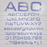Vector sketched alphabet Stock Images