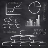 Vector sketched business blackboard Stock Photo