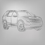 Vector sketched car Stock Photos