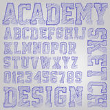 Vector sketched font Royalty Free Stock Photos