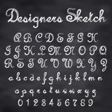 Vector sketched font Royalty Free Stock Photography