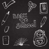 Vector sketched illustration at the blackboard Royalty Free Stock Image
