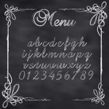Vector sketched menu board Stock Photography