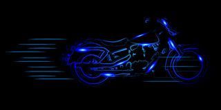 Vector sketched motorbike Royalty Free Stock Photos