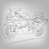 Vector sketched motorbike Stock Photo