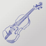 Vector sketched violin Royalty Free Stock Photo