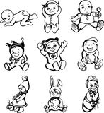 Sketches of babies Royalty Free Stock Images
