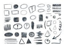 VECTOR Sketches Collection, Sketchbook Doodle Drawings, Set. vector illustration