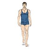 Vector SketchFashion Male Model in Underwear Stock Photography