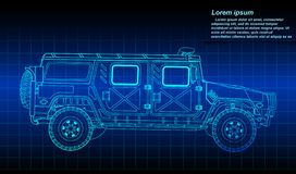 Sketching of military vehicle outline. Vector sketching of military vehicle outline vector illustration