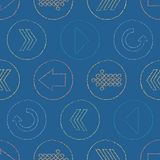 Vector Sketchy Arrow Circles Seamless Pattern Background royalty free illustration