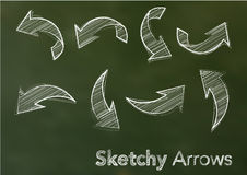 Vector sketchy arrows Royalty Free Stock Image