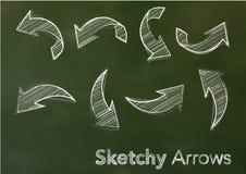 Vector sketchy arrows Royalty Free Stock Image