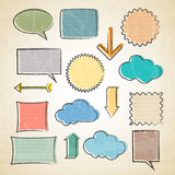 Vector sketchy communication elements Royalty Free Stock Image