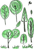 Vector sketchy of silhouette tree Royalty Free Stock Images