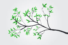 Vector sketchy of silhouette tree Stock Photo