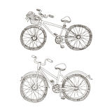 Vector sketchy two bycicles Royalty Free Stock Images