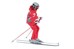 Vector skier Royalty Free Stock Photography