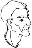 Vector Skizze des Gesichtes eines erwachsenen Mannes Stockbild