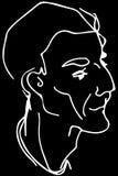 Vector Skizze des Gesichtes eines erwachsenen Mannes Lizenzfreie Stockfotografie