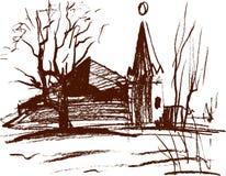 Landschaftsskizze Stockbilder