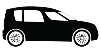 Vector Skoda Roomster car silhouette Royalty Free Stock Photos