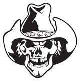 Vector skull. In cowboy hat Royalty Free Stock Image