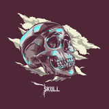 Vector Skull Art for Tattoo and shirt stock image