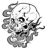 Vector skull artwork Royalty Free Stock Photo