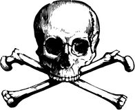 Vector skull and crossbones Stock Images
