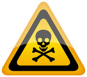 Vector skull danger sign vector illustration
