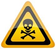 Vector skull danger sign Stock Photography