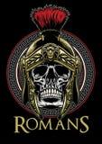 Skull of roman warrior vector illustration