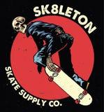Skull skateboarding Royalty Free Stock Photos