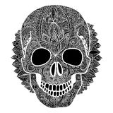 Vector skull tatoo day of the dead illustration Royalty Free Stock Image