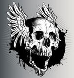 Vector skull with wings Stock Photos