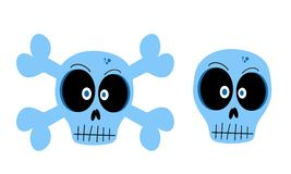 Vector skulls Stock Images